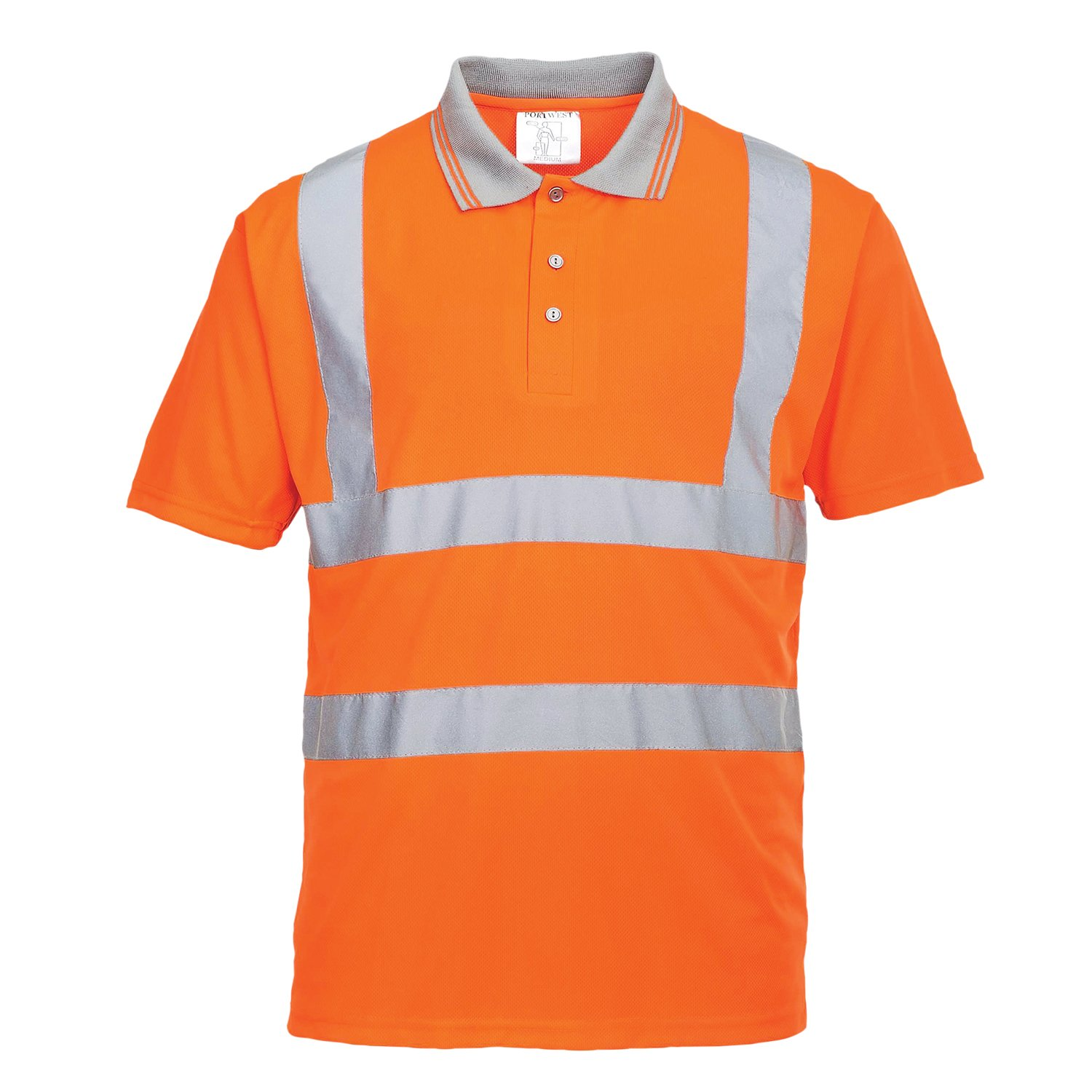 talla 3 XL Hi-Vis S//S Polo Portwest RT22 color naranja