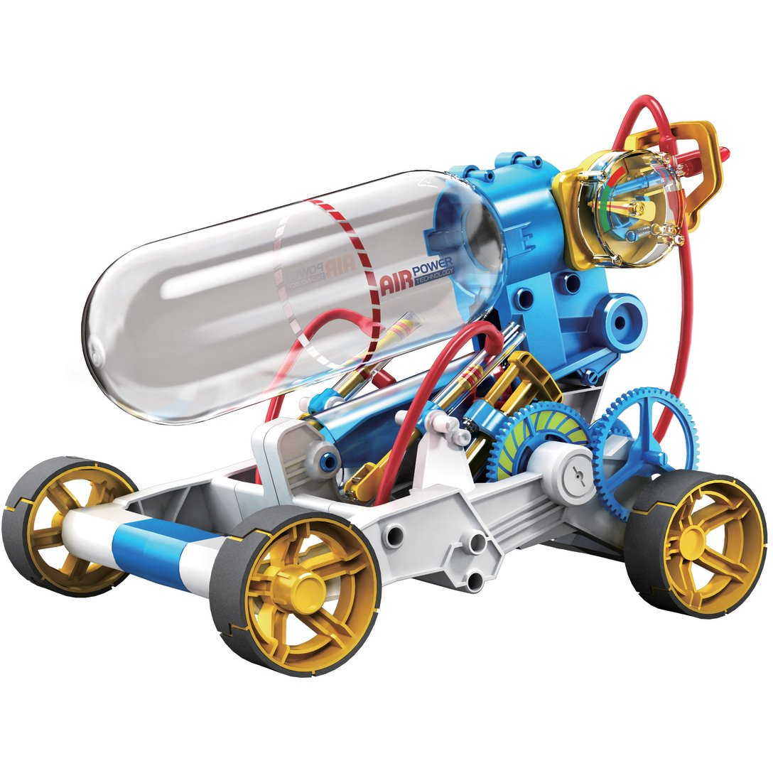 OWI 631 Air Power Racer Kit, Recommended Ages 10+, Fun and Easy to Build, Safety Valve Will Open and Bleed the Air Automatically if the User Keeps Pumping While the Tank is Full by OWI