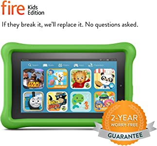 """Fire Kids Edition Tablet, 7"""" Display, 8 GB, Green Kid-Proof Case (Previous Generation - 5th)"""