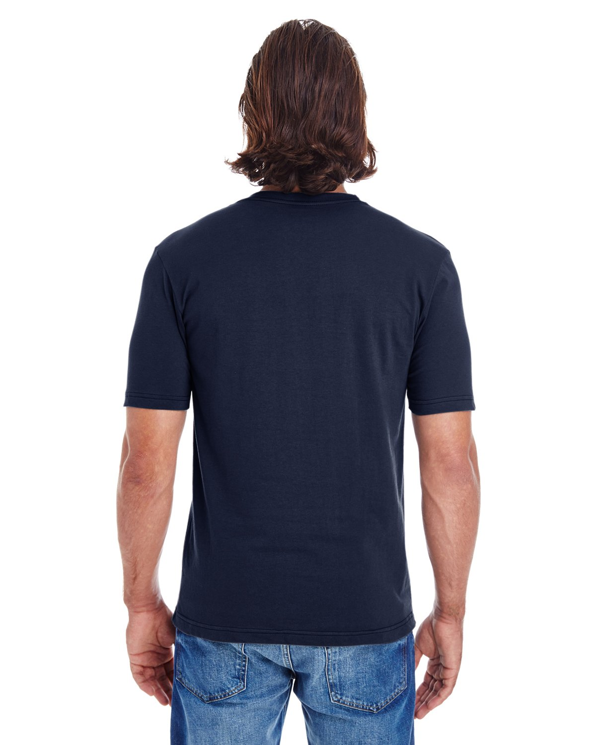 American Apparel 24321W Unisex Fine Jersey Short Sleeve Classic V-Neck Navy S by American Apparel (Image #3)