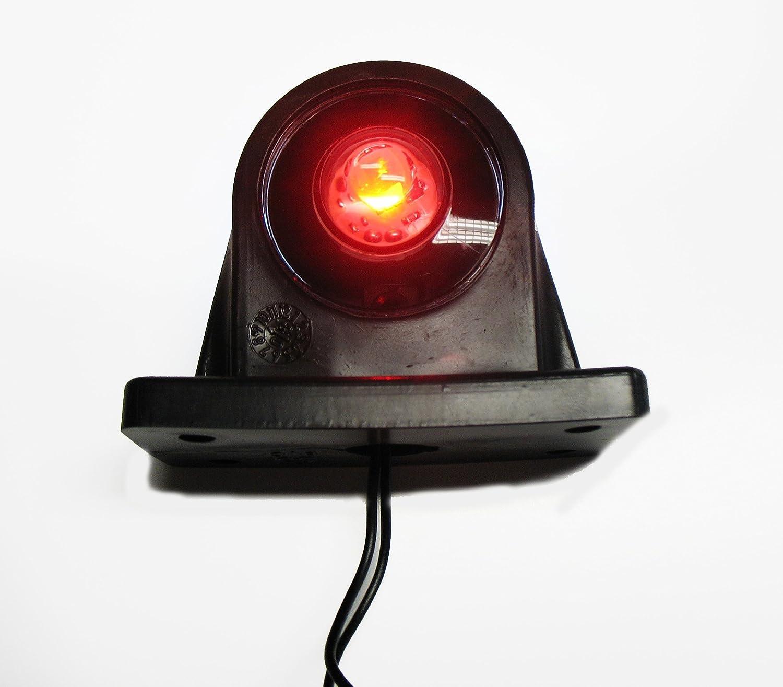 Rimers 2X LED 12V 24V 5 cm Gerade Umrissleuchte Begrenzungsleuchte Positionsleuchte