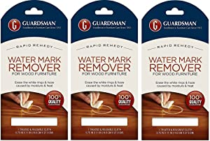 Guardsman Water Mark Remover Cloth - Erase White Rings & Haze Caused By Moisture and Heat - Reusable - 405200 (3-Pack)