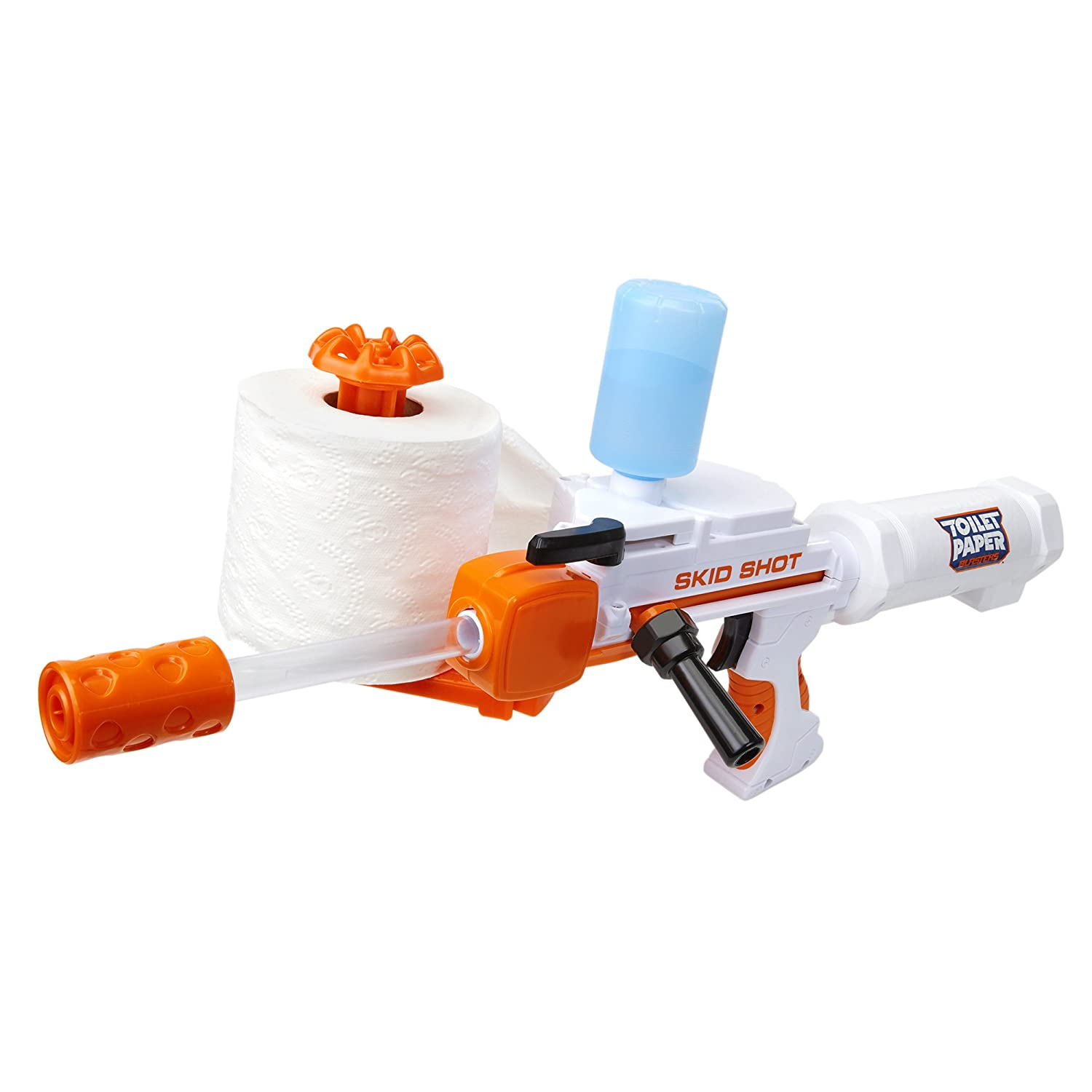 Awesome Gift Idea for him the Skid Shot Toilet Roll Blaster