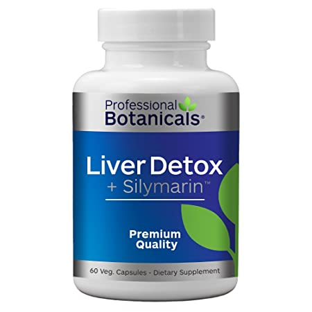 Professional Botanicals – Vegan Liver Detox and Sylmarin Supplement Milk Thistle Seed Extract Silymarin 80 , Organic Blessed Thistle, Dandelion Root,- 60 Vegetarian Capsules