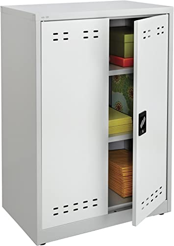 Safco Products 5531GR Steel Storage Cabinet, 42 High, Wall Mountable, Gray