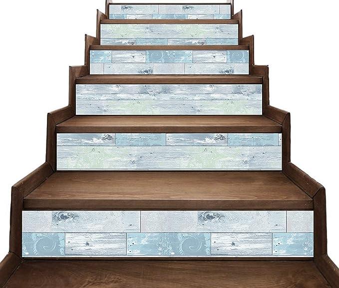 Vintage estilo rústico de madera Decal Tiras para escalera risers - Pelar y pegar - Etiqueta autoadhesiva- Decoración del hogar hazlo tu mismo - Paquete de 5 tiras: Amazon.es: Bricolaje y herramientas