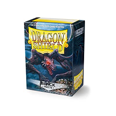 Dragon Shield Matte Black 100 Protective Sleeves: Toys & Games [5Bkhe1805569]