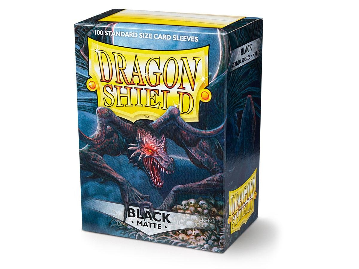3d2ea59000c Dragon Shield Standard Sleeves (Matte Black)  Amazon.co.uk  Toys   Games