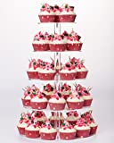 YestBuy 5 Tier Round Wedding Party Acrylic Cake Cupcake Tree Tower Maypole Display Stand 1 pc /Pack ?-