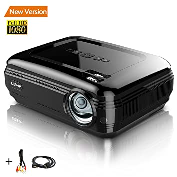 Proyector 1080P HD 3200lm LCD - leshp Cinema Familiar Distancia 1 ...