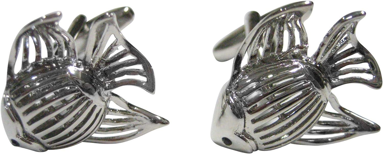 Kiola Designs Silver Toned Tropical Fish Cufflinks