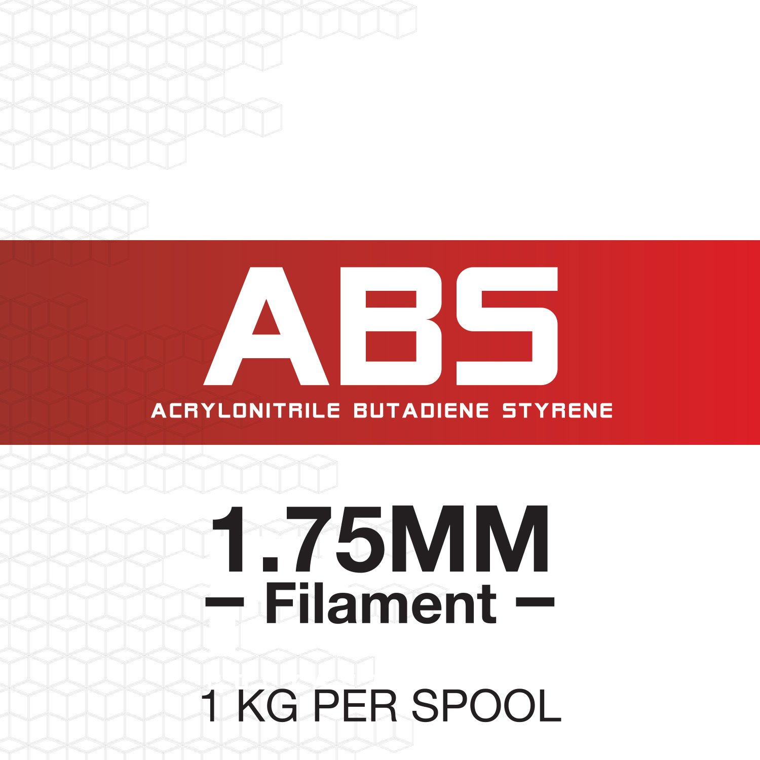 Dimensional Accuracy +//- 0.03 mm Transparent Red 3D ABS-1KG1.75-TRED 1 kg Spool 1.75 mm HATCHBOX ABS 3D Printer Filament