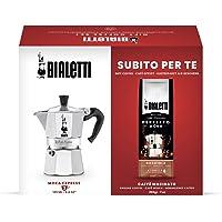 Bialetti Express, espressomachine met 3 kopjes en gemalen koffie, perfect voor moka, 200 g, hazelnootsmaak…