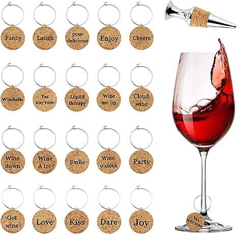 Set of 24 Wine Cork Beverage Napkins 5 Images of Corks and Cork Screws