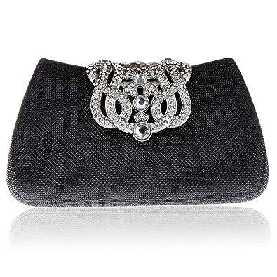 Kaxidy Ladies Elegant Pretty Luxury Crystal Rhinestones Evening Purse Clutch Bag Handbag Cocktail Wedding Clutch Purse