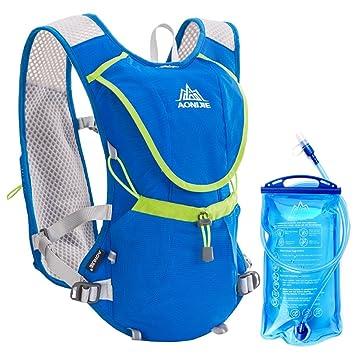 Geila Aire libre Trail Running Race Marathoner La hidratación del chaleco de hidratación Mochila con vejiga 1 Agua (azul): Amazon.es: Deportes y aire libre