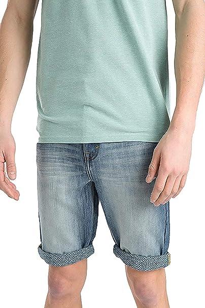 Pantalón Corto Vaquero Hombre Threadbare Nuevo Estampado ...
