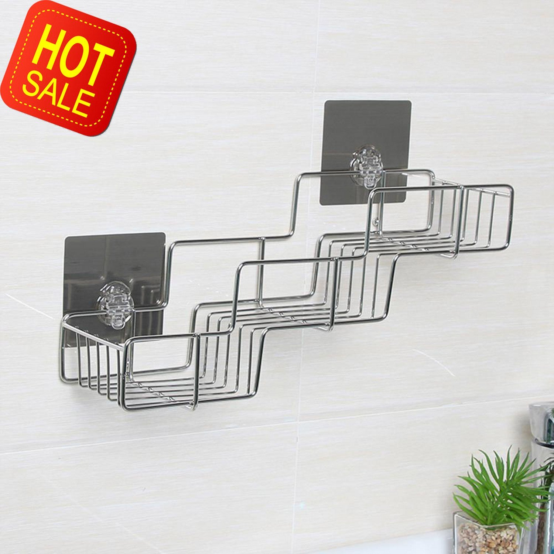 Okapi Bathroom Corner Rack 3 Tier Shower Caddy Wall Mounted Stainless Steel Storage Holder Shelf