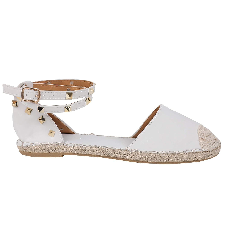 D-white Syktkmx Womens Espadrilles Lace Up Flat Platform Ankle Strap Wrap Summer D'Orsay Sandals