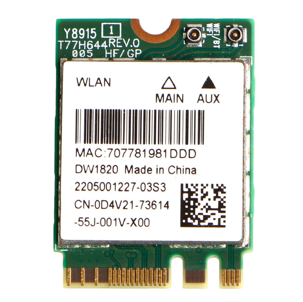 Andiny DELL DW1820 WLAN WiFi Wireless 802.11AC NGFF Mini WLAN WiFi Card QCNFA344A D4V21 by Andiny