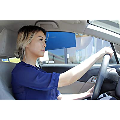 KT Sun Stop Universal Side Window Visor for Driving [2 Pieces, Original Blue]: Automotive