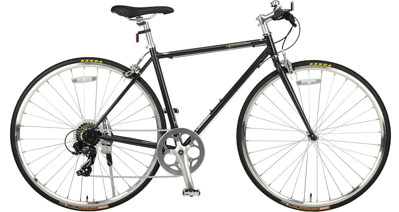 JEFFERYS(ジェフリーズ) ジェフリーズ 自転車 クロスバイク 700x25C AMADEUS シマノ7段変速 スチールフレーム ブラック JP8703 ブラック B07DH31GW6