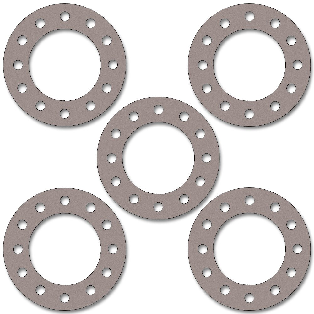 1//8 Thick 8 Pipe Size Pressure Class 300# Pack of 5 Sterling Seal CFF7540.800.125.300X5 7540 Vegetable Fiber Full Face Gasket 8.62 ID