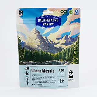product image for Backpacker's Pantry Chana Masala, 2 Servings Per Pouch, Freeze Dried Food, 14 Grams of Protein, Vegan, Gluten Free