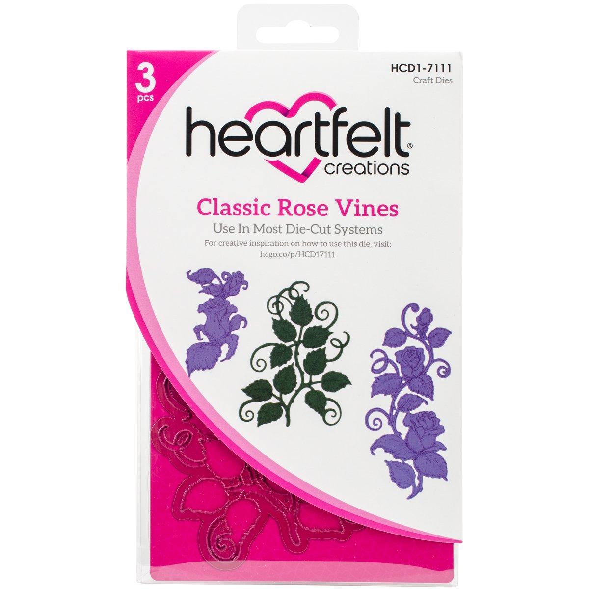 Heartfelt Creations Classic Rose Vines 1.5 to 4.75 Emboss Dies