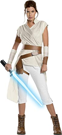 Amazon Com Rubie S Star Wars The Rise Of Skywalker Adult Deluxe Rey Costume Clothing