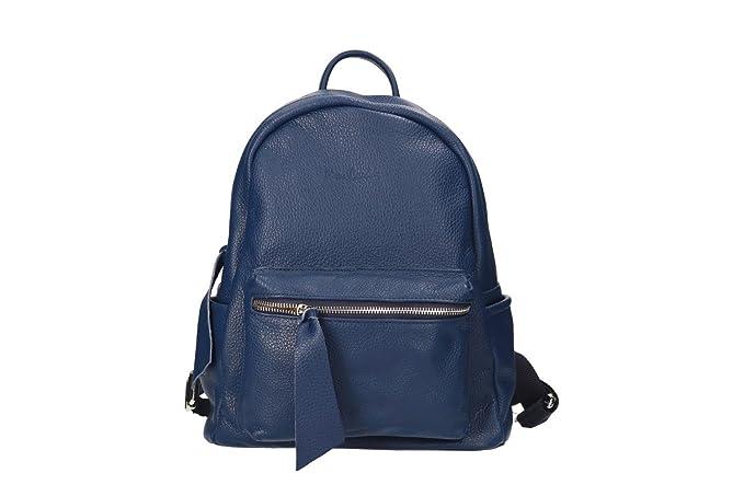 81b34c52d2 Zaino donna a spalla zainetto Pierre Cardin blu pelle MADE IN ITALY N1041:  Amazon.it: Abbigliamento