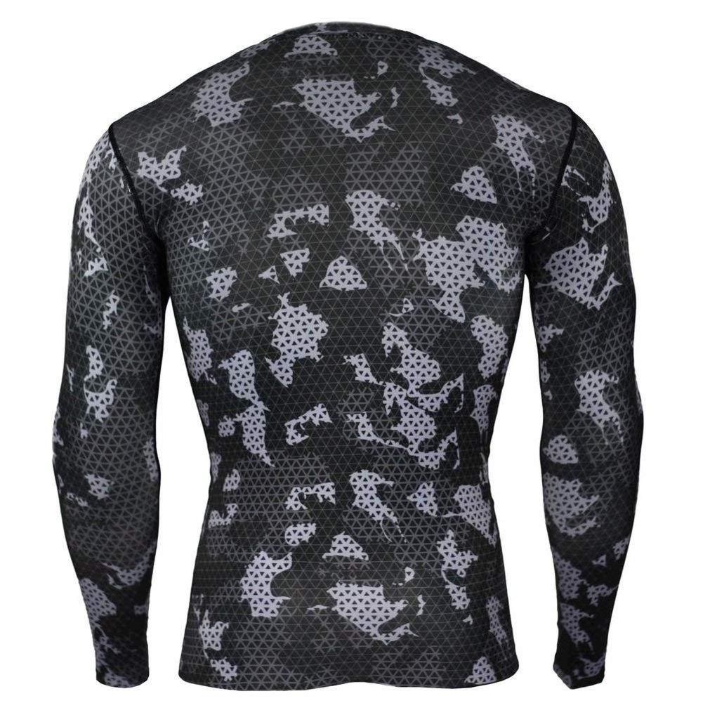 PKAWAY Camo Compression Shirt Black Workouts Tee