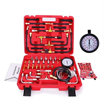BETOOLL Pro Fuel Injection Pressure Tester Kit Gauge 0-140 PSI: Automotive