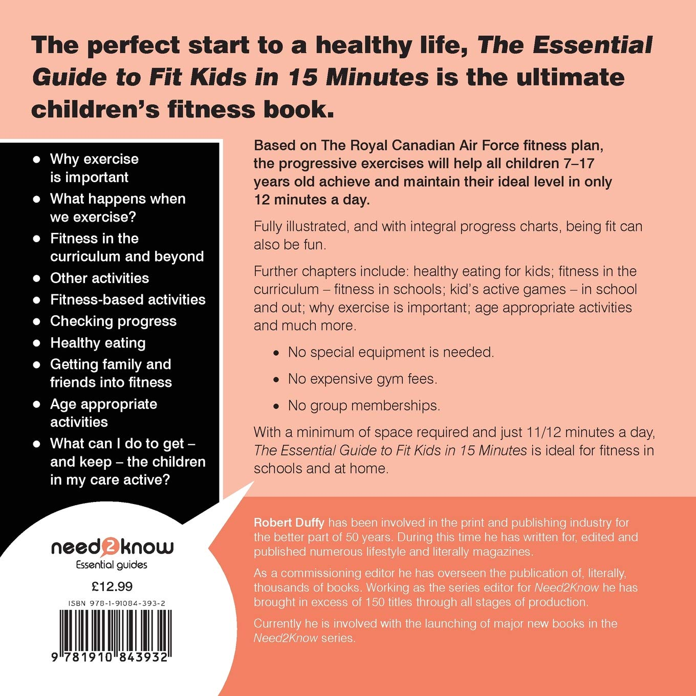 6f15f3754de Fit Kids in 15 minutes  The Essential Guide (Essential Guides)   Amazon.co.uk  Robert Duffy  9781910843932  Books