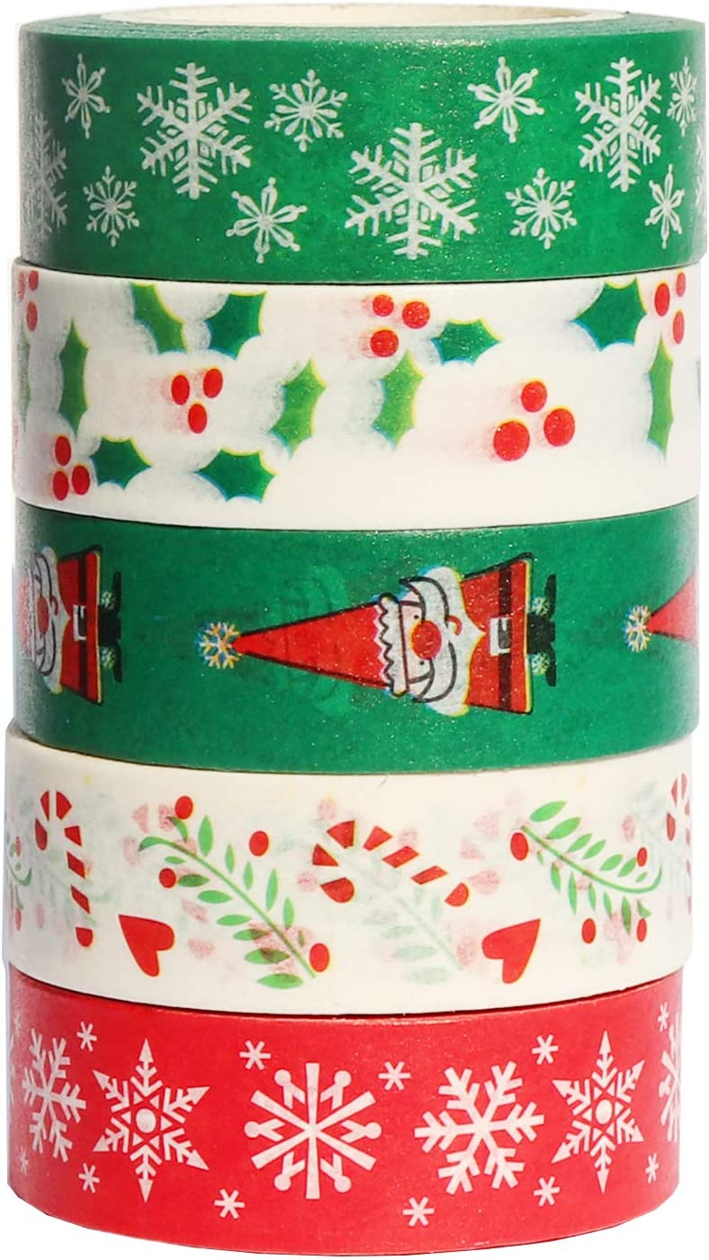 Scrapbooking tape Holiday gift wrapping Card making tape Solid Mint Washi tape Japanese tape roll Xmas Decoration tape