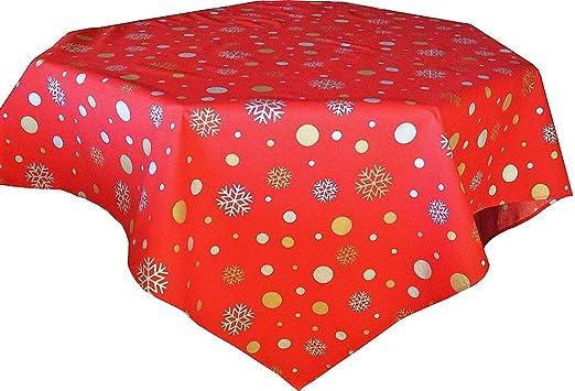 Cassa Luyton Navidad Mantel Resinado, Algodón-Poliéster, Rojo, Super King, 140x350x1 cm: Amazon.es: Hogar