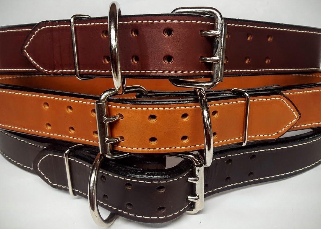 Heavy Duty 2 Ply Plain Leather Gun Belts 1 3/4'' Wide