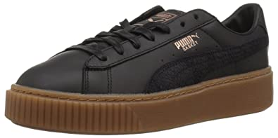 uk availability fe303 7e382 PUMA Women's Basket Platform Euphoria Gum Sneaker