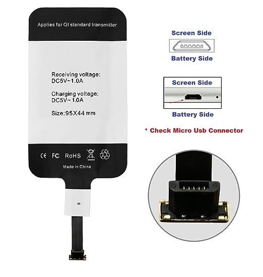 10 opinioni per BlueBeach® Android Qi Wireless Senza fili Ricarica Ricevitore Caricatore
