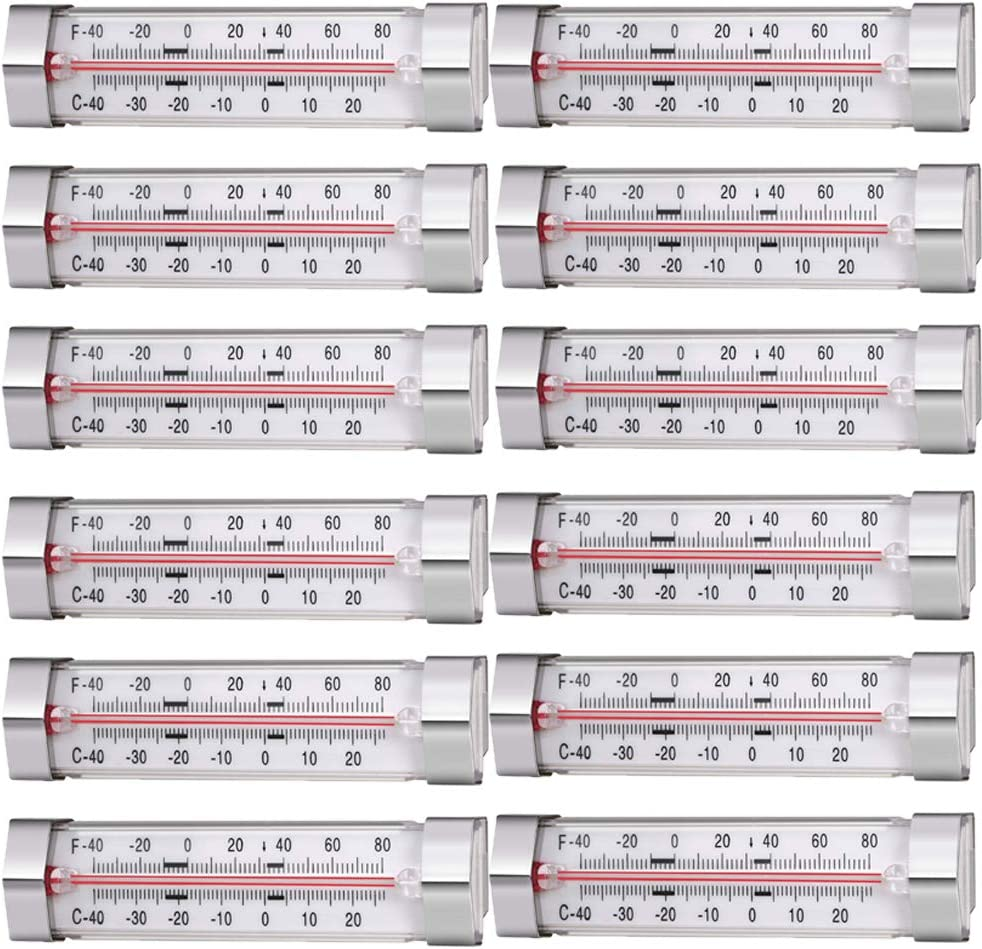 12 Pack Fridge Refrigerator Freezer Thermometer