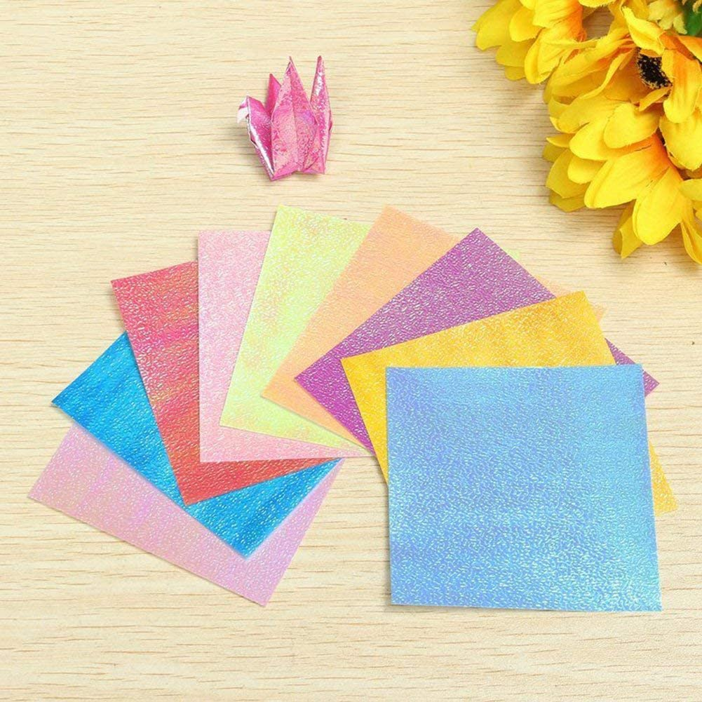 Ogquaton Folded Paper Origami Paper Single-Sided Colourful Origami Folding Paper for Origami and Crafts 50x Creative and Useful