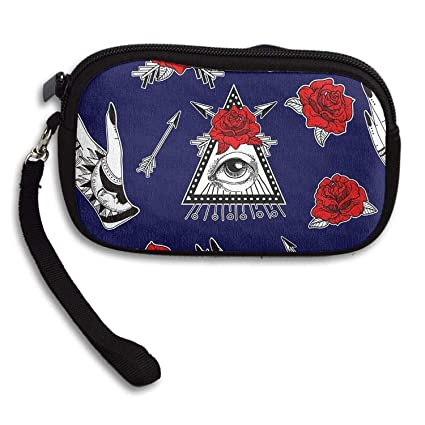 Moon Rose Portable Washable Wristlets Bag Clutch Wallets ...
