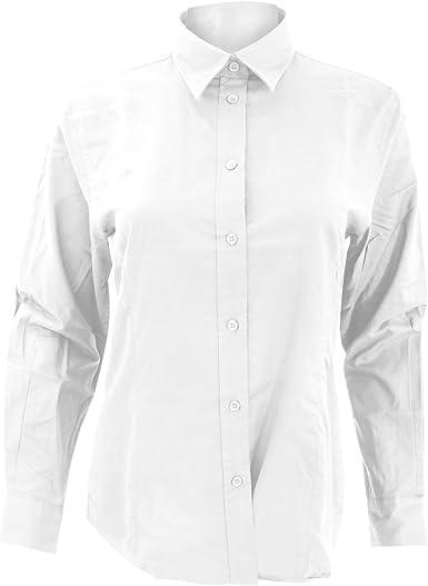 Kustom Kit- Camisa Oxford de manga larga de trabajo para mujer: Amazon.es: Ropa y accesorios