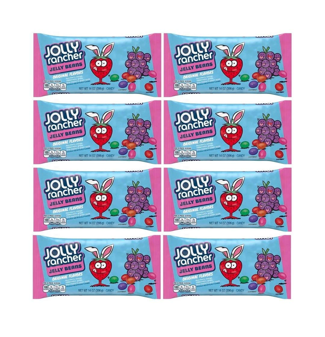 Jolly Rancher Jelly Beans, 14-Ounce Bag (Pack of 8) by Jolly Rancher