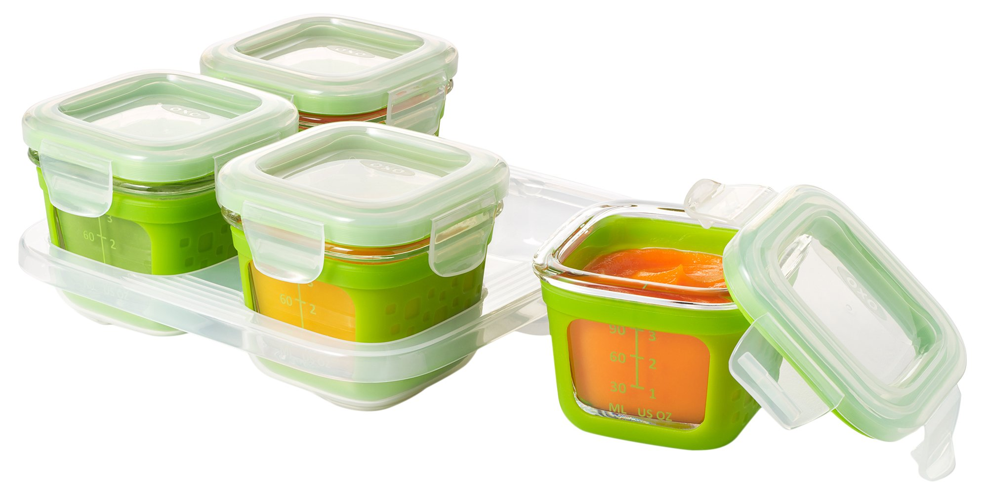 Amazon Com Oxo Tot Glass Baby Blocks Food Storage