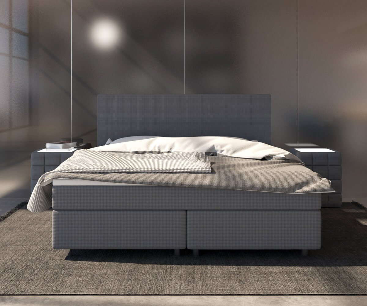 Amazon.de: DELIFE Bett Cloud Grau 140x200 cm Matratze und Topper ...