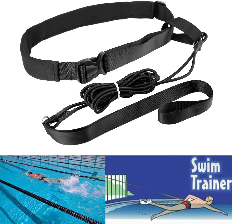 XJunion 2.0M Swim Sports Resistance Tether, Swim Pool Training Leash Swim Training Belt Outdoor Gear