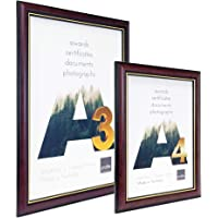 Profile Products Australian Made Timber Photo Frame 501 Burgundy Gold A3 Certificate Frame