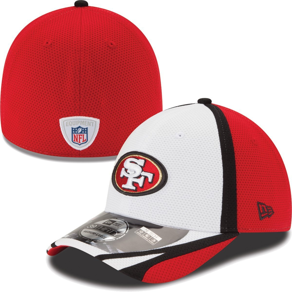 a2808d95 San Francisco 49ers 39THIRTY Stretch Fit Cap, M/L: Amazon.co.uk ...