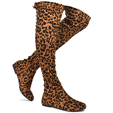 a4672478271 Premier Standard - Women s Fashion Comfy Vegan Suede Side Zipper Over Knee  High Boots